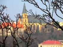 γοτθικός ναός της Πράγας Άγιος ludmila καθεδρικών ναών Στοκ φωτογραφία με δικαίωμα ελεύθερης χρήσης