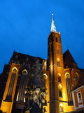 Γοτθικός ναός Wroclaw συλλογικός Στοκ Εικόνα