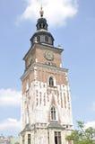 Γοτθικός πύργος αιθουσών πόλεων, Κρακοβία, Πολωνία Στοκ φωτογραφία με δικαίωμα ελεύθερης χρήσης