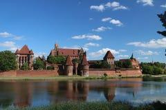 Γοτθικό κάστρο σε Malbork, Πολωνία Στοκ εικόνα με δικαίωμα ελεύθερης χρήσης