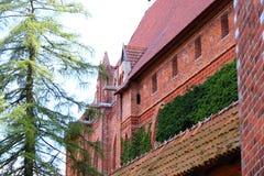 Γοτθικό κάστρο σε Malbork, Πολωνία Στοκ φωτογραφία με δικαίωμα ελεύθερης χρήσης
