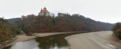 Γοτθικό κάστρο Veveri κοντά στο Μπρνο Στοκ Φωτογραφίες