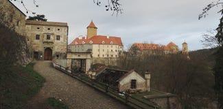 Γοτθικό κάστρο Veveri κοντά στο Μπρνο Στοκ εικόνα με δικαίωμα ελεύθερης χρήσης