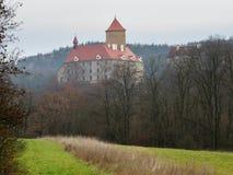 Γοτθικό κάστρο Veveri κοντά στο Μπρνο Στοκ Εικόνα
