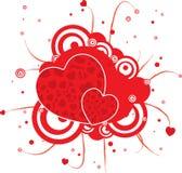 γοτθικό κόκκινο καρδιών Στοκ Φωτογραφίες