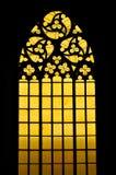 Γοτθικό λεκιασμένο παράθυρο γυαλιού Στοκ εικόνα με δικαίωμα ελεύθερης χρήσης