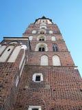 γοτθικό ορόσημο Mary Πολωνία s ST της Κρακοβίας εκκλησιών τούβλου βασιλικών στοκ φωτογραφία με δικαίωμα ελεύθερης χρήσης