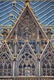 γοτθικό παράθυρο κεραμι& Στοκ Εικόνες