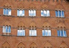 Γοτθικό παράθυρο με την αντανάκλαση Στοκ Εικόνα