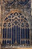 Γοτθικό παράθυρο του καθεδρικού ναού StVitus στην Πράγα Στοκ Εικόνες