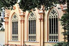 Γοτθικό παράθυρο του παρεκκλησιού με τα traceries, Ιταλία Στοκ εικόνες με δικαίωμα ελεύθερης χρήσης