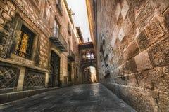 γοτθικό τέταρτο παρόδων λαμπτήρων της Βαρκελώνης Βαρκελώνη Ισπανία Στοκ Φωτογραφία