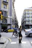 Γοτθικό τέταρτο στη Βαρκελώνη, Ισπανία στοκ φωτογραφία