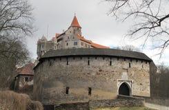 γοτθικό pernstejn κάστρων στοκ φωτογραφία με δικαίωμα ελεύθερης χρήσης