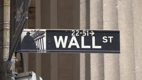Γουώλ Στρητ, χρηματοδότηση, Μανχάταν, πόλη της Νέας Υόρκης απόθεμα βίντεο
