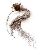 γούνα μόδας Στοκ Εικόνα