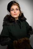 γούνα παλτών βικτοριανή Στοκ εικόνα με δικαίωμα ελεύθερης χρήσης