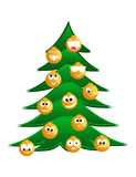 γούνα tree3 Χριστουγέννων Στοκ Εικόνα