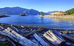Γούνινος κολπίσκος στο χρόνο ηλιοβασιλέματος στοκ εικόνες με δικαίωμα ελεύθερης χρήσης
