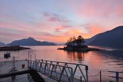 γούνινο ηλιοβασίλεμα κολπίσκου στοκ εικόνα με δικαίωμα ελεύθερης χρήσης