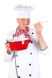 Γούστο μαγείρων τα τρόφιμα Στοκ Φωτογραφία