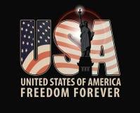 Γράμματα ΗΠΑ με την εικόνα της αμερικανικής σημαίας Στοκ φωτογραφία με δικαίωμα ελεύθερης χρήσης