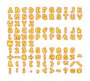 Γράμματα της αλφαβήτου σύνολο Στοκ φωτογραφία με δικαίωμα ελεύθερης χρήσης