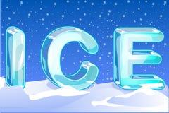 Γράμματα ICE Στοκ Εικόνα