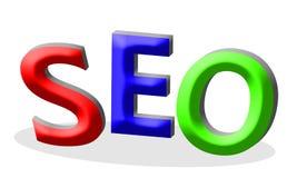 Γράμματα SEO, τρισδιάστατος-κείμενο όγκου διανυσματική απεικόνιση