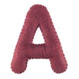 Γράμμα Α από αισθητός Στοκ Φωτογραφίες