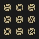 Γράμμα Α, Γ, Ε, Γ, Χ, Ν, Ο, S, απεικόνιση Ζ του αφηρημένου σχεδίου λογότυπων Διανυσματική απεικόνιση EPS 8 eps 10 Στοκ Εικόνες
