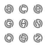 Γράμμα Α, Γ, Ε, Γ, Χ, Ν, Ο, S, απεικόνιση Ζ του αφηρημένου σχεδίου λογότυπων Διανυσματική απεικόνιση EPS 8 eps 10 Στοκ Φωτογραφίες
