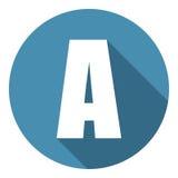Γράμμα Α με μια μακριά σκιά Διανυσματική απεικόνιση EPS10 ελεύθερη απεικόνιση δικαιώματος
