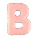 Γράμμα Β από αισθητός Στοκ φωτογραφία με δικαίωμα ελεύθερης χρήσης