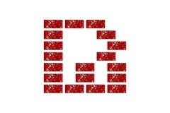 Γράμμα Β και έμπνευση σχεδίου λογότυπων τούβλου Ρ ελεύθερη απεικόνιση δικαιώματος