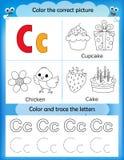 Γράμμα Γ εκμάθησης και χρώματος αλφάβητου Στοκ φωτογραφία με δικαίωμα ελεύθερης χρήσης