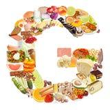 Γράμμα Γ φιαγμένο από τρόφιμα στοκ φωτογραφίες με δικαίωμα ελεύθερης χρήσης