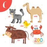 Γράμμα Γ Χαριτωμένα ζώα Αστεία ζώα κινούμενων σχεδίων στο διάνυσμα Στοκ εικόνες με δικαίωμα ελεύθερης χρήσης