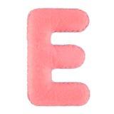 Γράμμα Ε από αισθητός Στοκ φωτογραφία με δικαίωμα ελεύθερης χρήσης