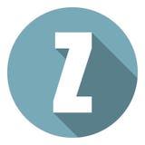 Γράμμα Ζ με μια μακριά σκιά Διανυσματική απεικόνιση EPS10 διανυσματική απεικόνιση