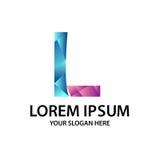 Γράμμα Λ με το polygonal ύφος Στοκ Εικόνες