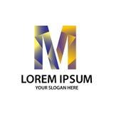 Γράμμα Μ με το polygonal ύφος Στοκ φωτογραφία με δικαίωμα ελεύθερης χρήσης