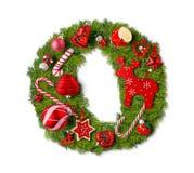 Γράμμα Ο αλφάβητου Χριστουγέννων στοκ φωτογραφία με δικαίωμα ελεύθερης χρήσης