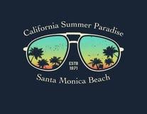 Γράμμα Τ Καλιφόρνιας surfer γραφικό ελεύθερη απεικόνιση δικαιώματος
