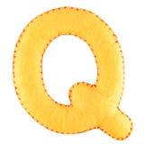 Γράμμα Q από αισθητός Στοκ φωτογραφία με δικαίωμα ελεύθερης χρήσης
