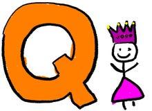 γράμμα q Στοκ εικόνα με δικαίωμα ελεύθερης χρήσης