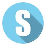 Γράμμα S με μια μακριά σκιά Διανυσματική απεικόνιση EPS10 απεικόνιση αποθεμάτων