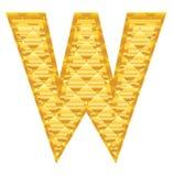 γράμμα W αλφάβητου Στοκ Εικόνα