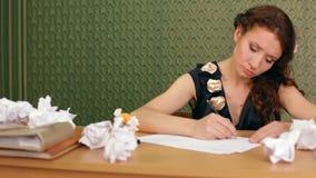 Γράφει μια επιστολή απόθεμα βίντεο