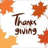 Γράφοντας ευτυχής αφίσα typhography ημέρας των ευχαριστιών απεικόνιση αποθεμάτων